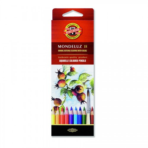 "Set Of Aquarel Col-Pencils ""Mondeluz"" 18 Pcs"