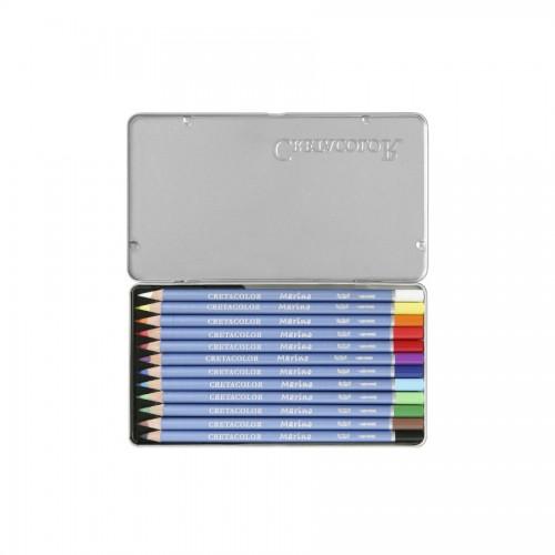 """Set Of Aquarel Col-Pencils """"Marino"""" 12 Pcs Cretaco"""