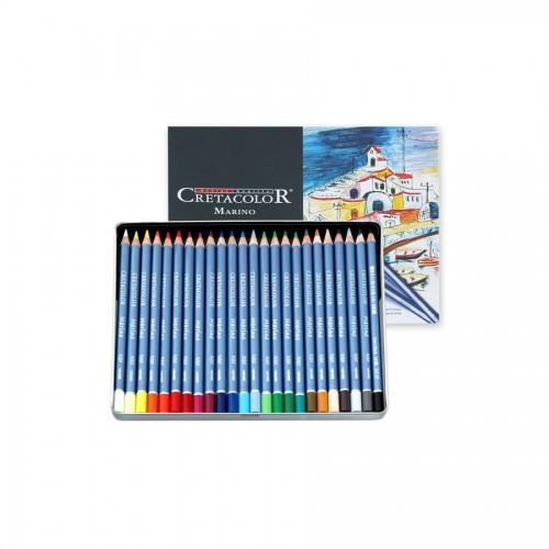 """Set Of Aquarel Col-Pencils """"Marino"""" 24 Pcs Cretaco"""