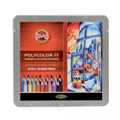 "Set Of Artist Colored Pencils ""Polycolor"" 48Pcs"