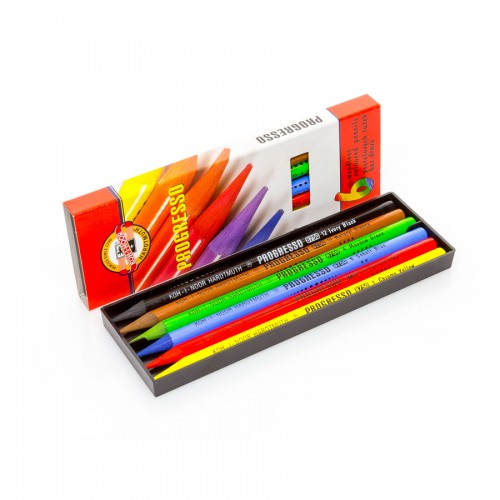 "Woodless Colour Pencil Set ""Progresso"" 6 Pcs"