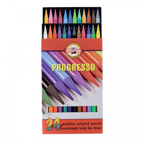 "Woodless Colour Pencil Set ""Progresso"" 24 Pcs"
