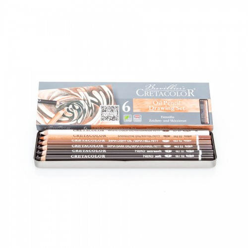 Oil Pencils Set 6Pcs, Cretacolor