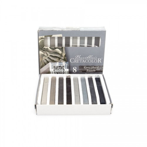 Set Of Art Chalks  Grey 8Pcs,  Cretacolor