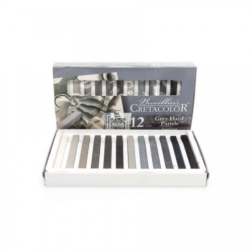 Set Of Art Chalks  Grey 12Pcs, Cretacolor