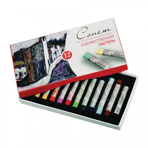 "Sets Of Soft Pastels ""Sonet"", 12Pcs"