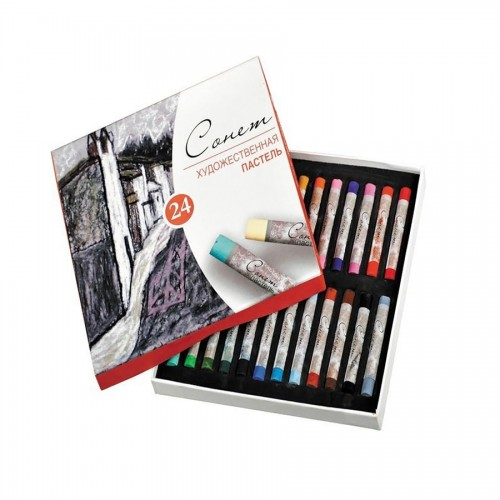 "Sets Of Soft Pastels ""Sonet"", 24Pcs"
