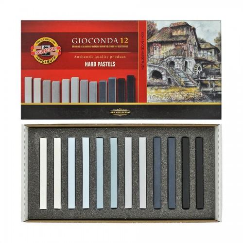 """Sets Of Hard Pastels """"Gioconda"""" Grey, Koh-I-Noor"""