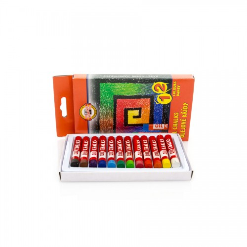Sets Of Oil  Pastels 12Pcs, Koh-I-Noor