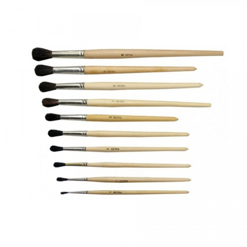Squirrel brushes, round blau