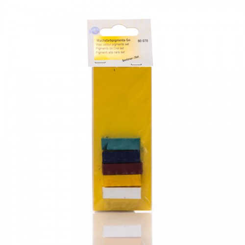 Wax colour pigments-set (5 diff.colours)