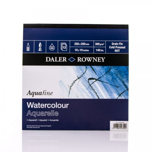 Watercolour Pad 300G 25X25,Daler-Rowney
