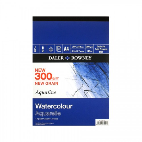 Watercolour Pad 300G A4, 12 Sheets, Daler-Rowney