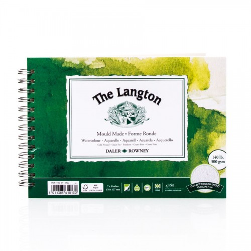 Langton Watercolour Pad 300G17.8X12.7,Daler-Rowney