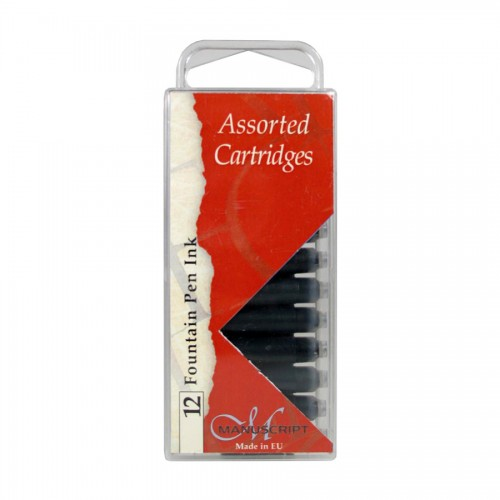 Calligraphy Black Ink Cartridges 12pcs