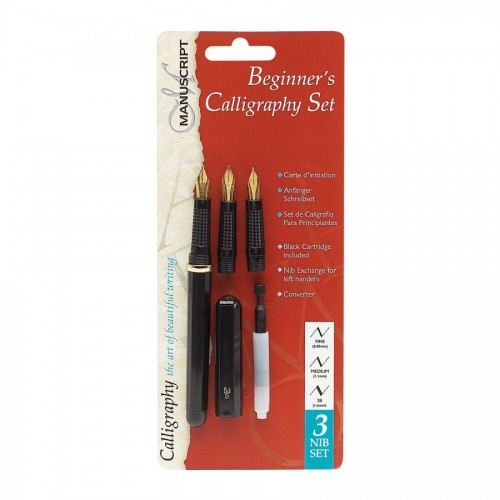 Beginner'S Calligraphy 3 Nib Set