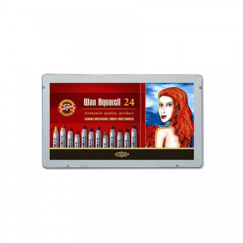 Set of Wax Aquarell Coloured Pencils 24