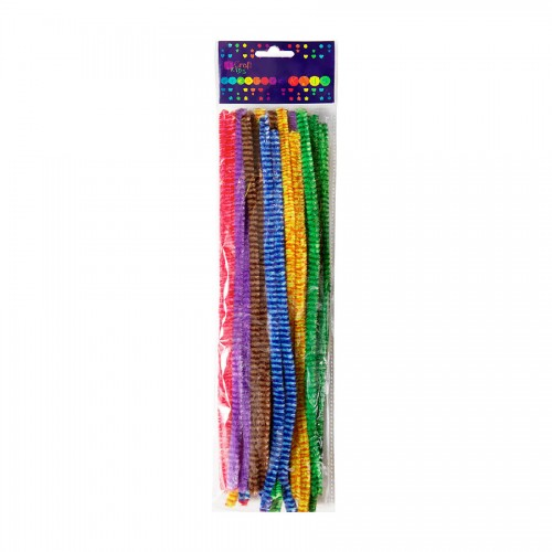 Chenille Stems 30Cm,25Pcs,Stripes
