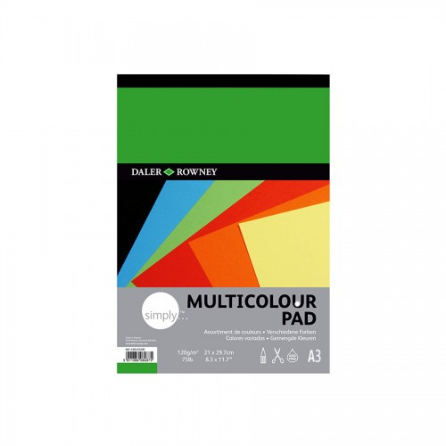 Coloured Paper Pad A3 24 Sht 120G, Daler-Rowney