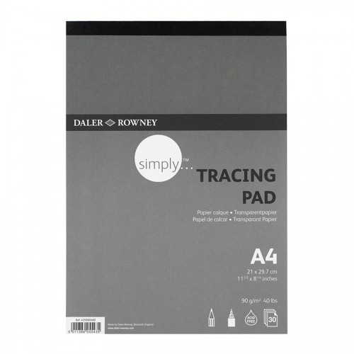 Tracing Pad A4 90Gr30Sht, Daler-Rowney