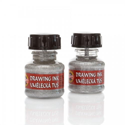 Indian Ink, Silver 20 Ml Koh-I-Noor