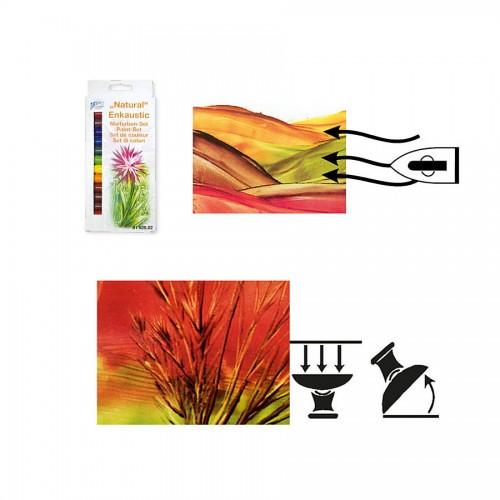 Enkaustic Set Of Paints/Colours 'Natural',14Pcs