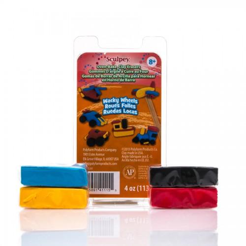 Eraser Clay Set -Wacky Wheels