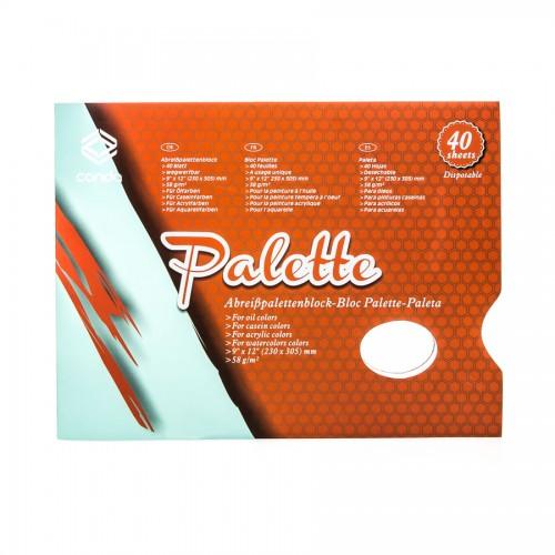 """Paper Palette,58Gr/M2, 9X12"""", 40 Sheets"""