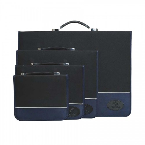 Portfolio, Nylon, 43*35.5*4Cm, Black And Blue