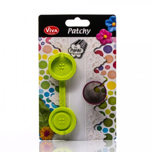Patchy Button Big With Puncher 629135