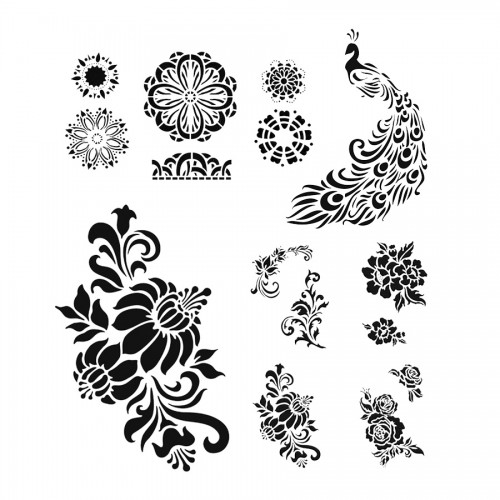 Stencils set, 5pcs Viva Decor