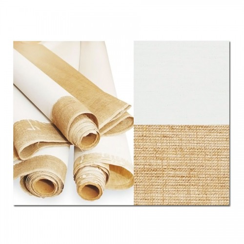 Primed Cotton Canvas, Back Colored, Width 1,6M, 380G