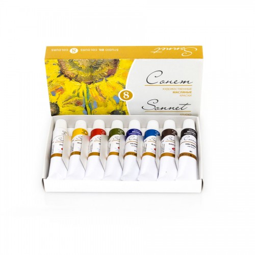 "Oil Colour Set""Sonet"" 8X10Ml, Cardboard Box"