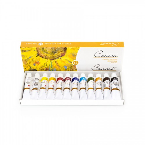 "Oil Colour Set ""Sonet"" 12X10Ml, Cardboard Box"