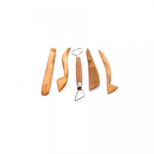 Wooden Pottery Tools, 5Pcs/Set, 8""