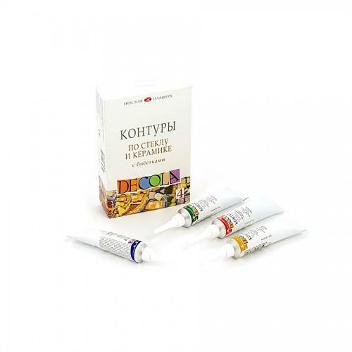 Konturi K-T Klaas-Keramika,Glitter Dekola 4X18Ml.