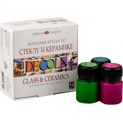 «Decola» Acrylic set for glass and ceramics , 9 x 20ml