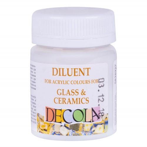 Diluent for acrylic colours for glass& ceramicsDecola50ml