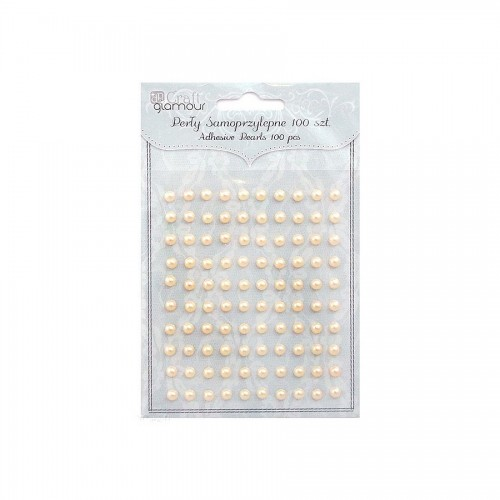 Self Adhesive Bling-Bling Pearls 100Pcs Dalprint