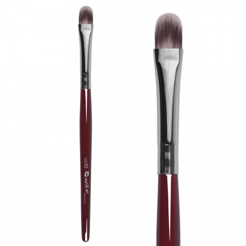Parti-Colored Synthetic, Oval,Foundation Brush 10