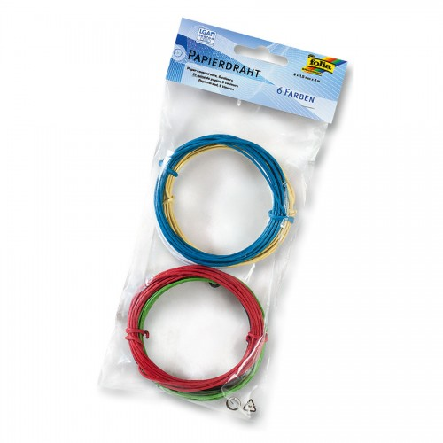 Paper Coated Wire 1.5Mmx3M.6Pcs. Folia