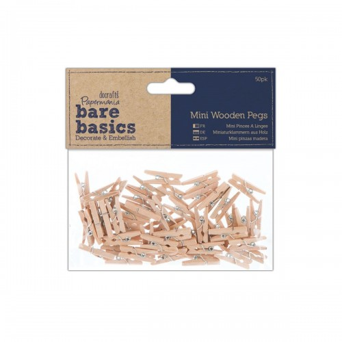 Mini Wooden Pegs (50pk)