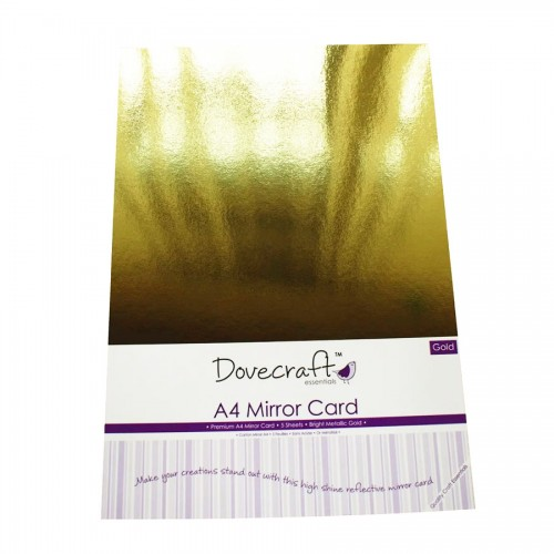 Dovecraft A4 Gold Mirror Card