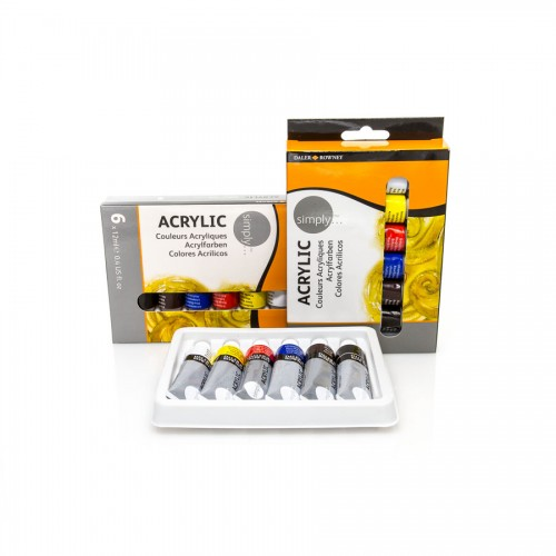 "Acrylic colour set ""Simply"" 6x12ml Daler-Rowney"