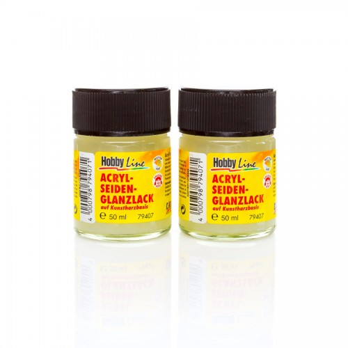 Hobby Line Satin Varnish 50 Ml Synthic Resin-Based