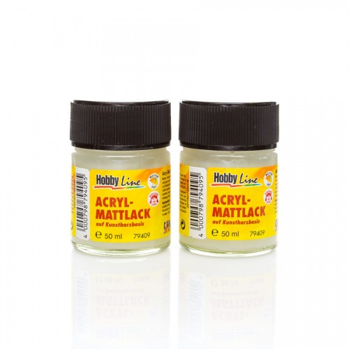 Hobby Line Matt Varnish 50 Mlsynthetic Resin-Based
