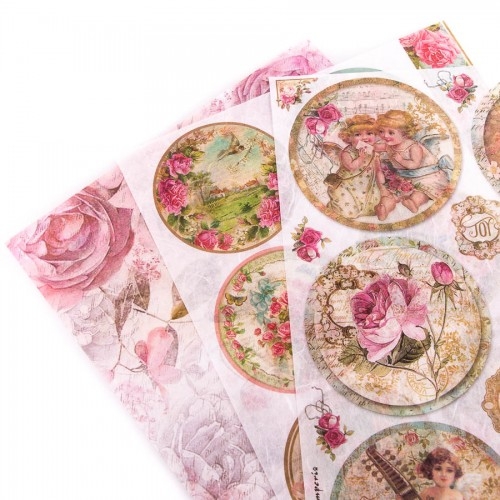 Rice decoupage A4