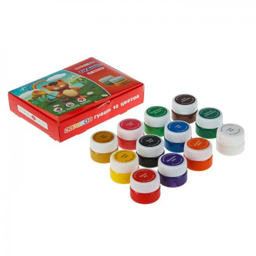 Tsvetik  Gouache Set, 12 Colours*20ml