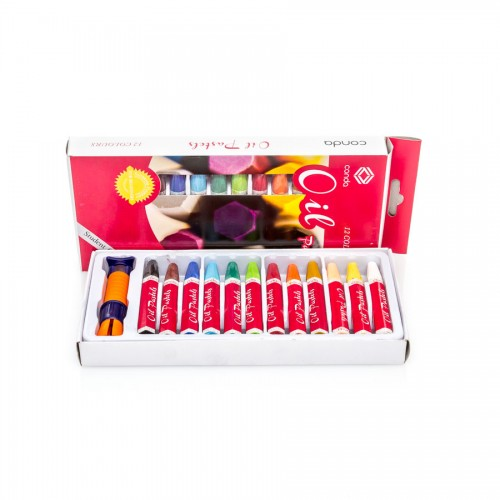 Sets Of Oil  Pastels 12Pcs, Conda