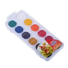Tsvetik ,Watercolour Set 12 Colours In Plastic